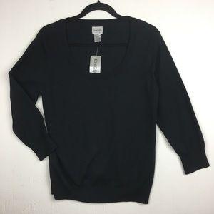 Chico's Scoop Neck Black Sweater